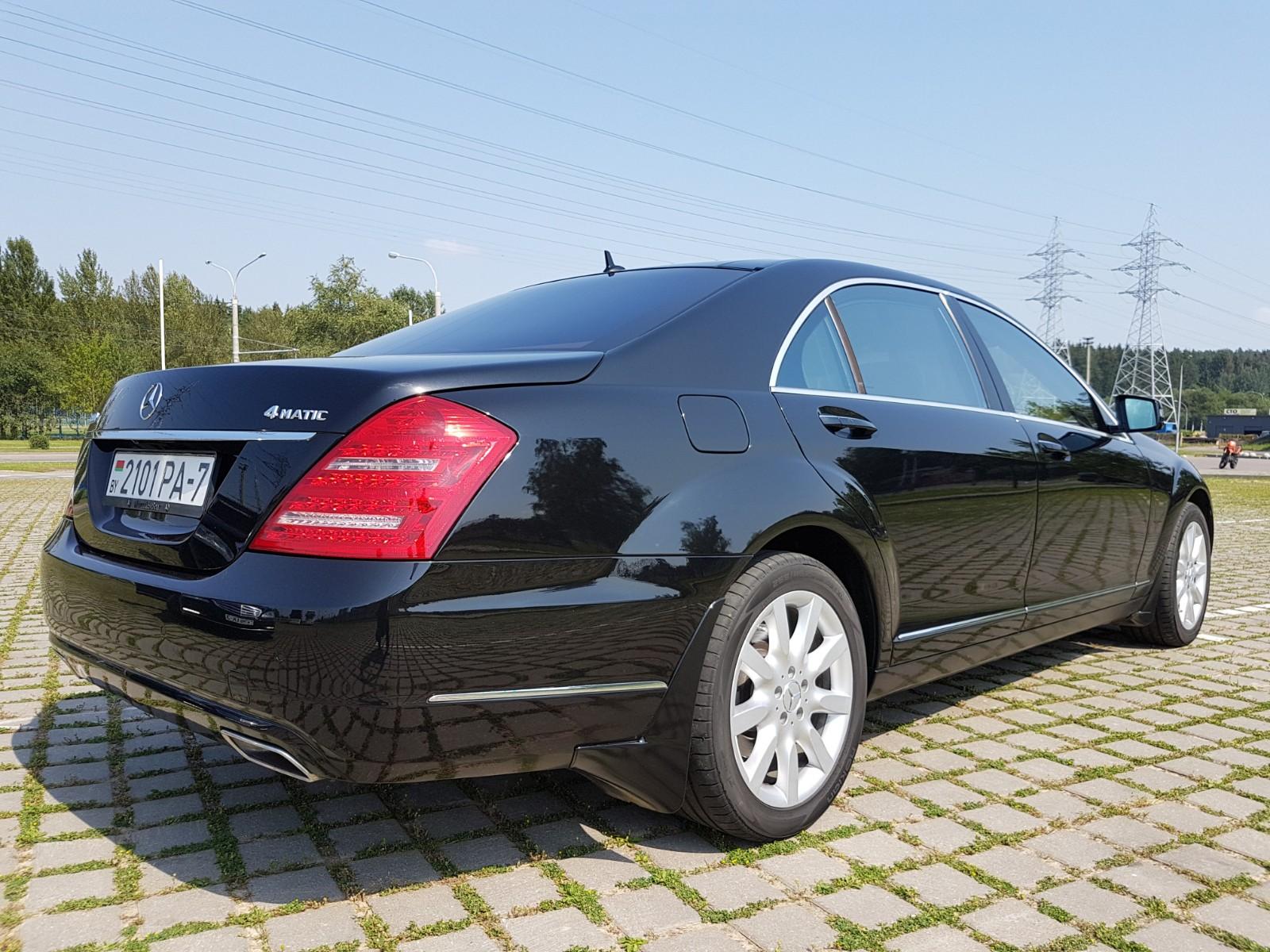 Аренда авто с водителем в Минске. Mercedes W221 S500 Long2