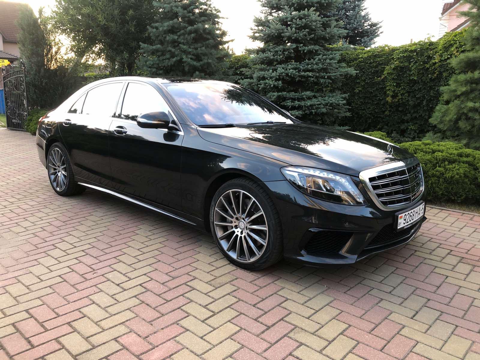 Прокат авто с водителем в Минске. Mercedes W222 Long S500