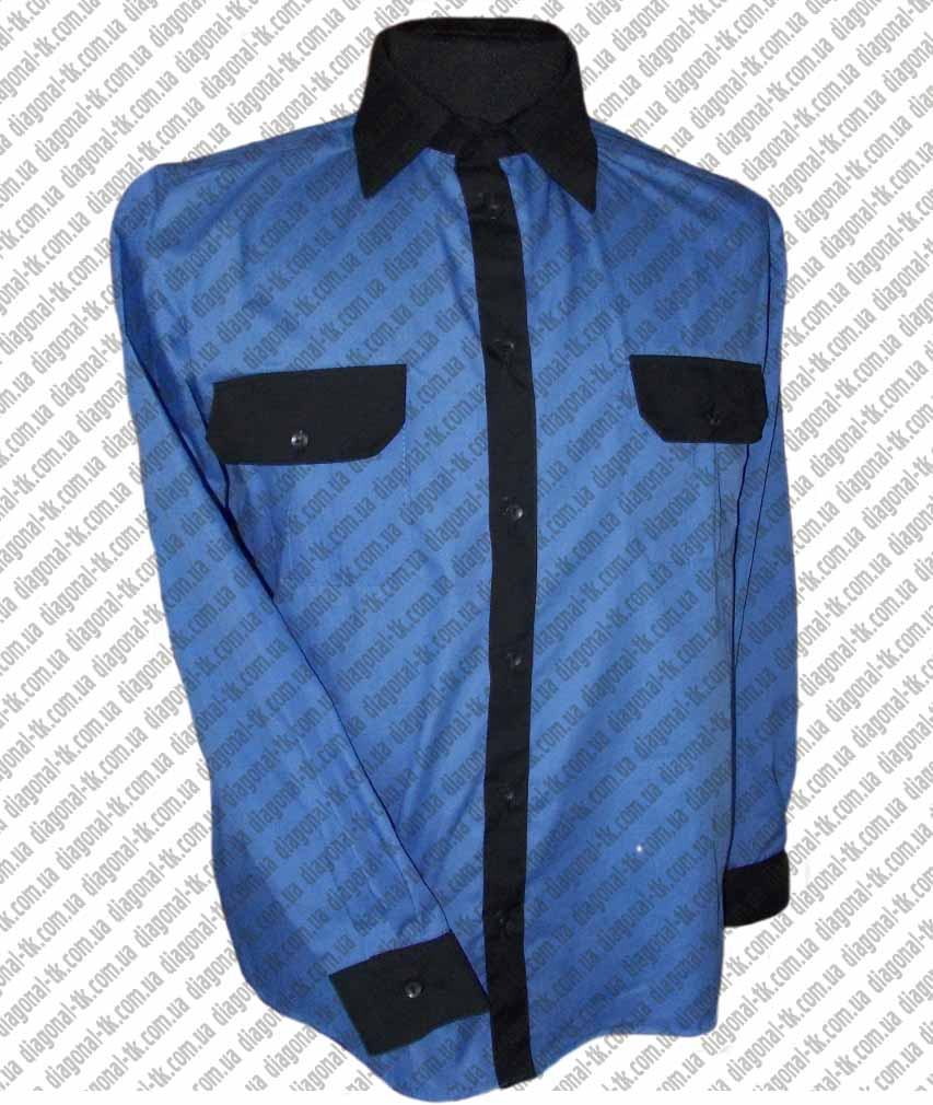 Рубашка форменная голубая длинный рукав