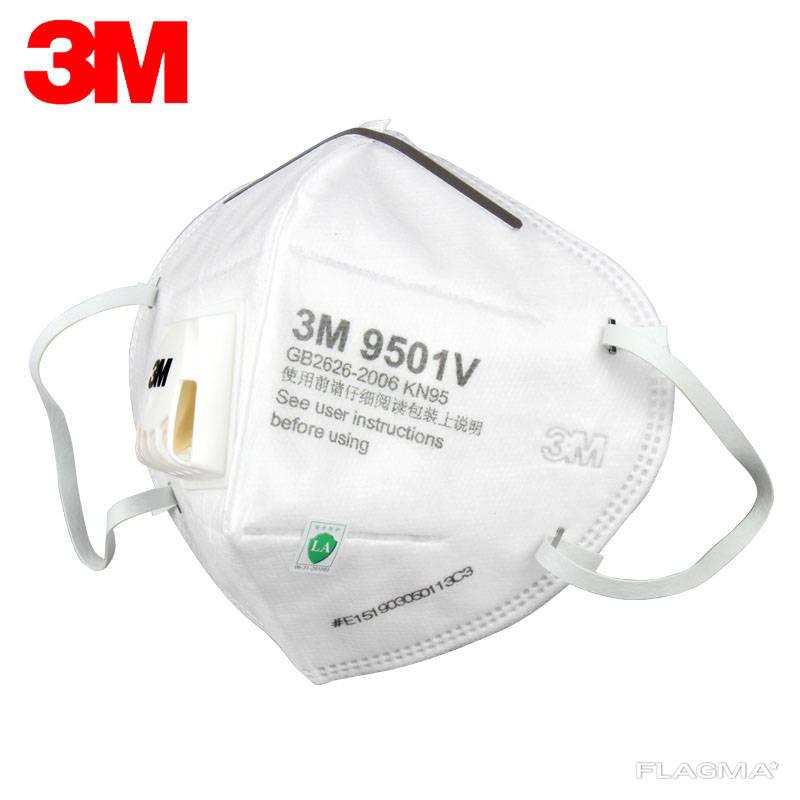 Маска-респиратор 3М с фильтром KN 9501V ОПТ сертификат