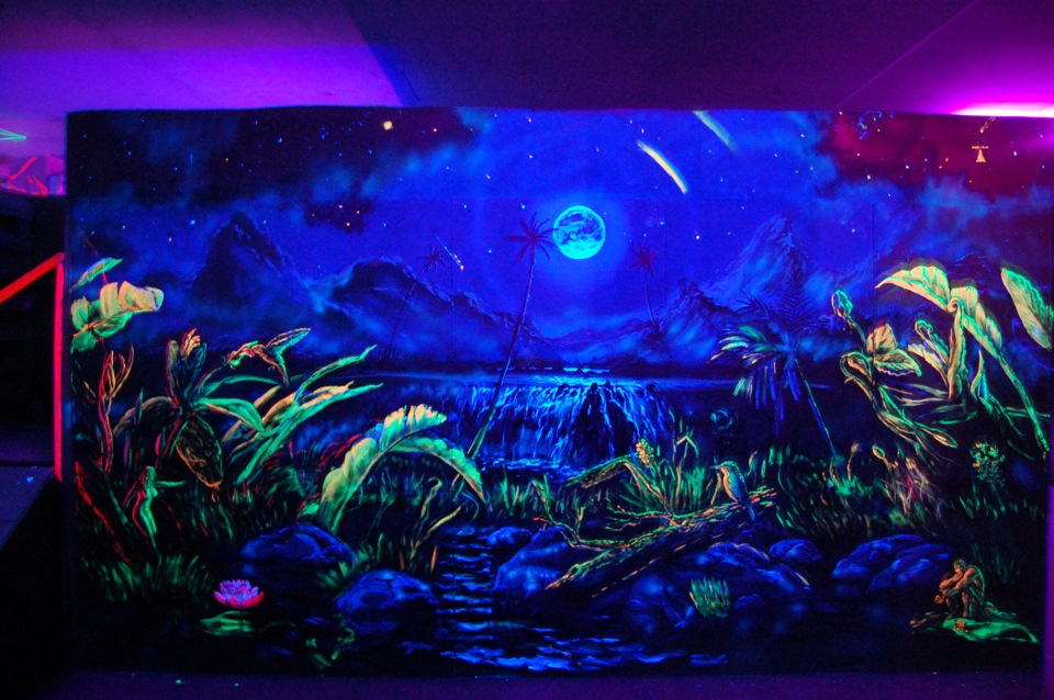 Флуоресцентная краска для наружного и внутреннего применения Нокстон