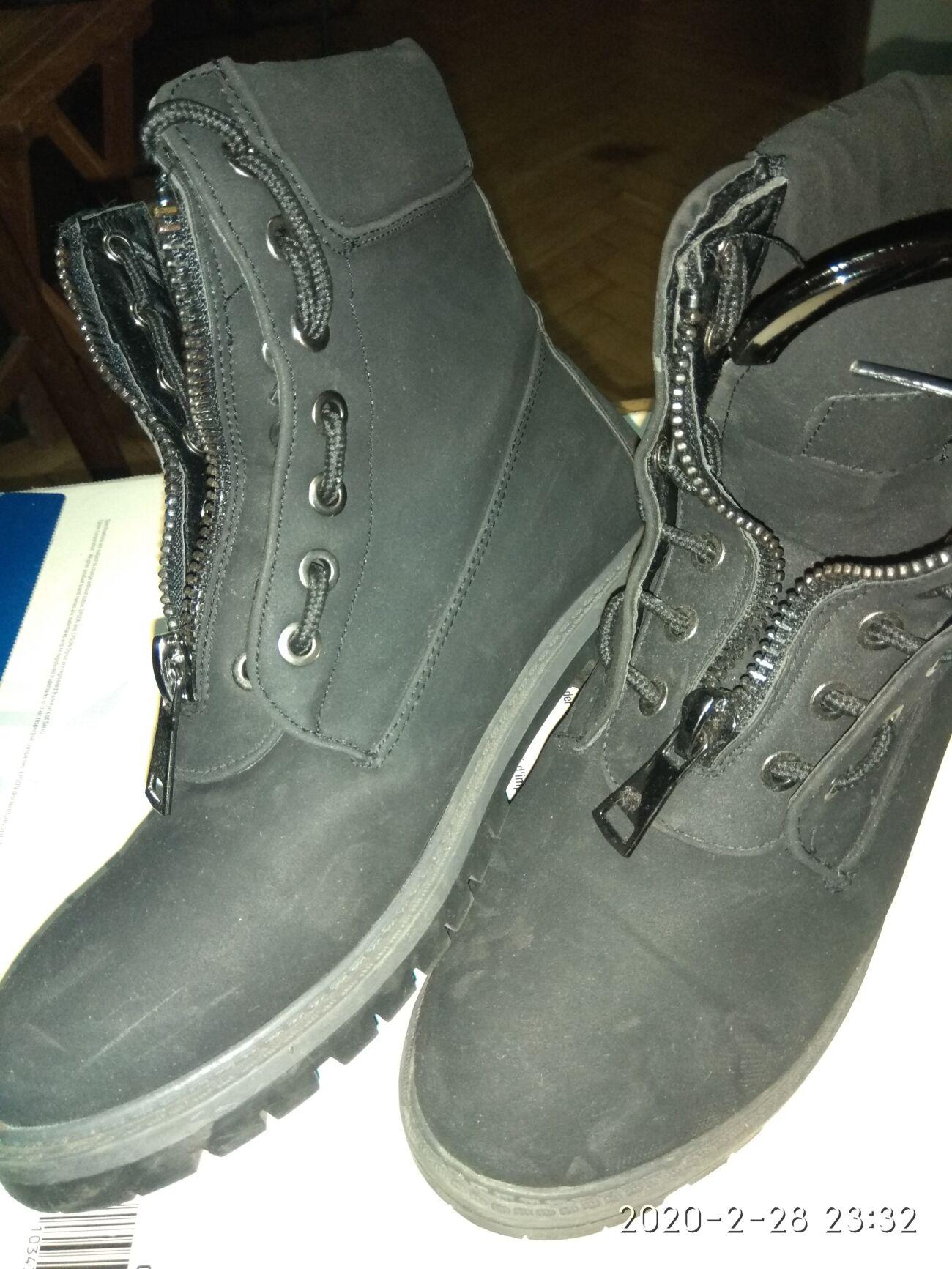 Ботинки замшевые2