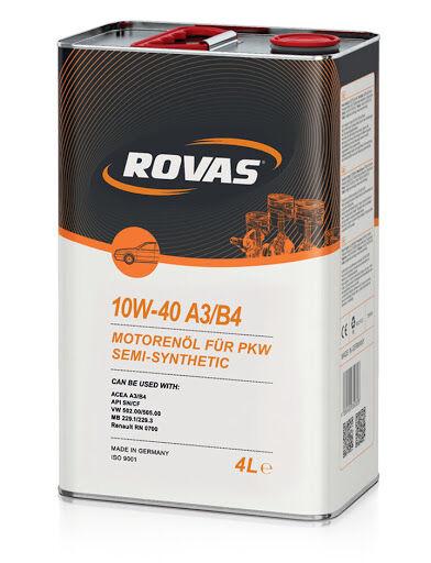 Авто масло ROVAS 10W40 A3B4 канистра 4л1