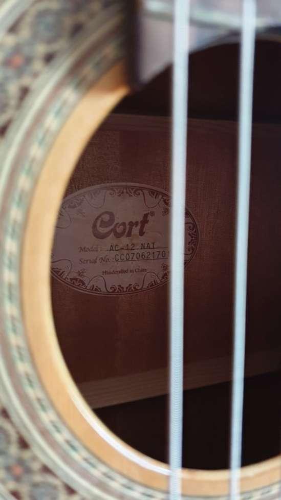 Акустическая гитара CORT AC 12 NAT Красное дерево, Палисандр