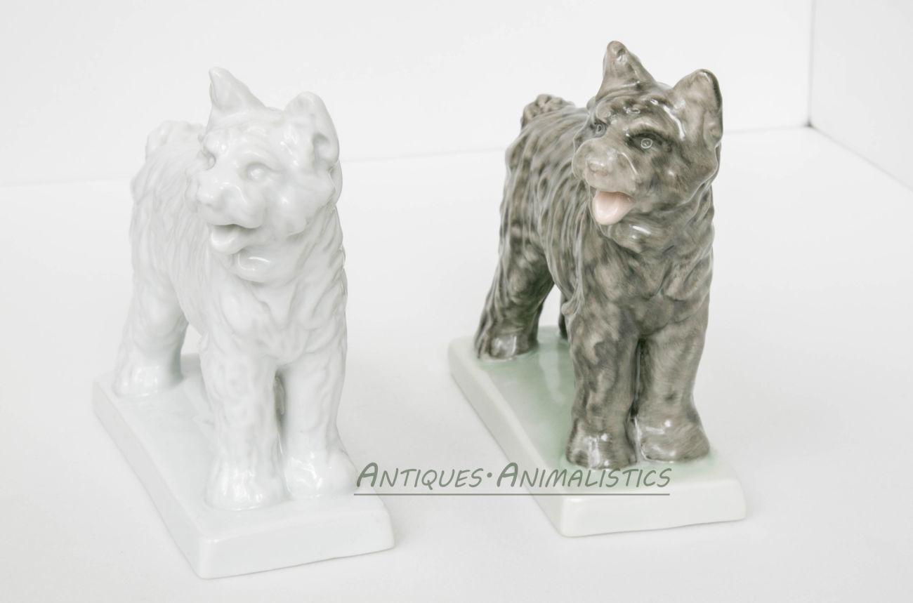 Фарфоровые статуэтки коллекционная пара Пастушьи Собаки, Herend Hungar
