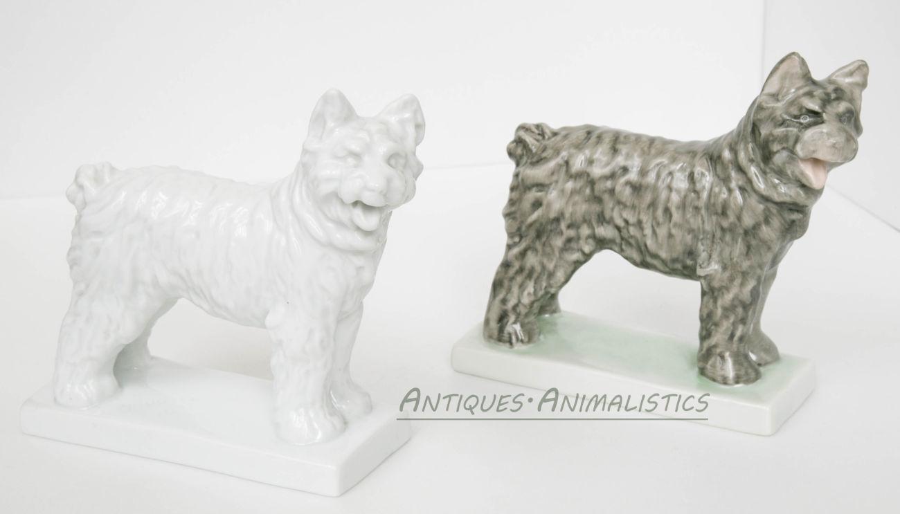 Фарфоровые статуэтки коллекционная пара Пастушьи Собаки, Herend Hungar1