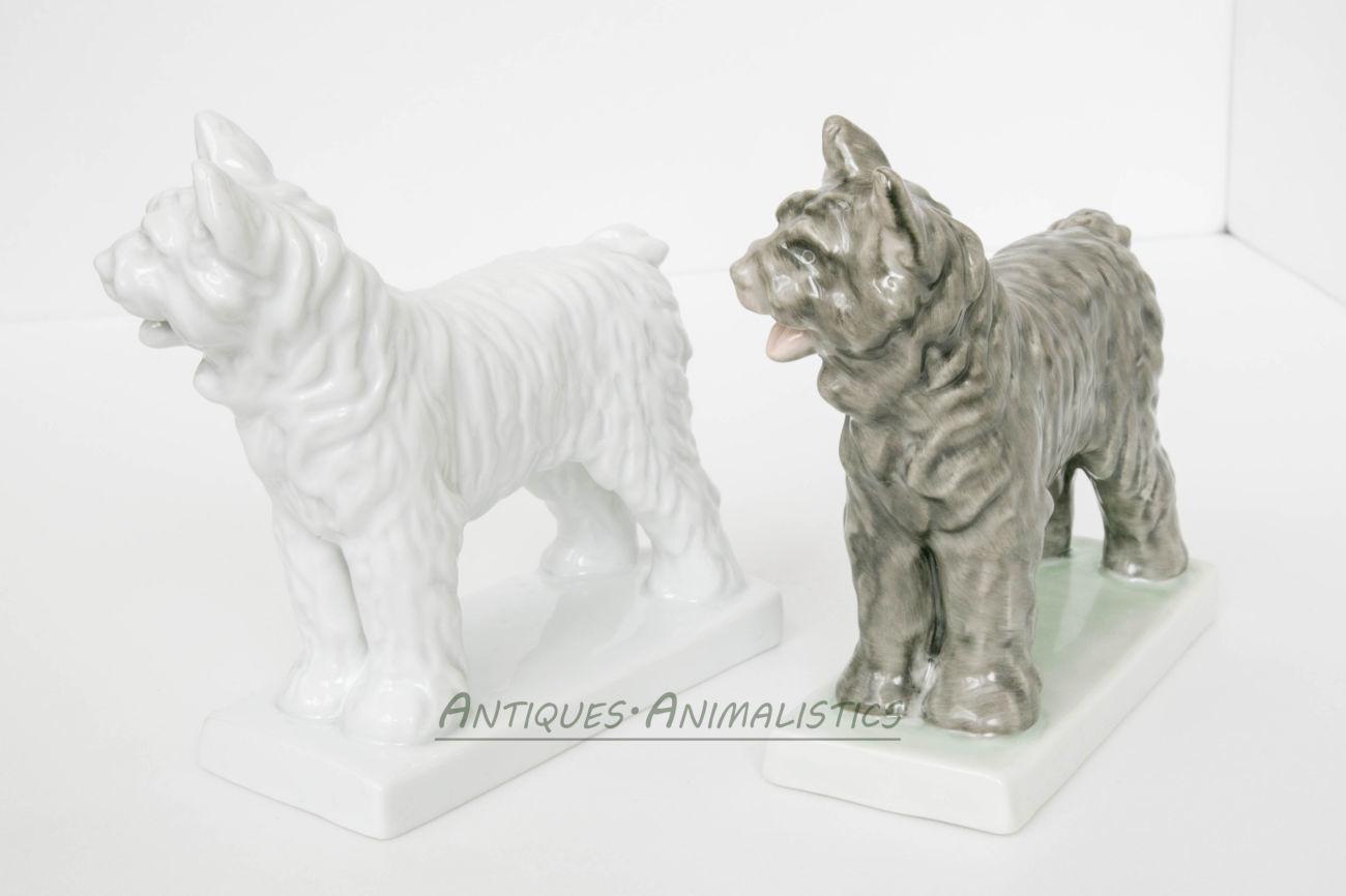 Фарфоровые статуэтки коллекционная пара Пастушьи Собаки, Herend Hungar2