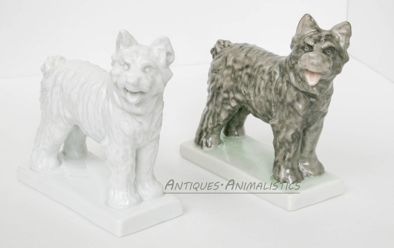 Фарфоровые статуэтки коллекционная пара Пастушьи Собаки, Herend Hungar3