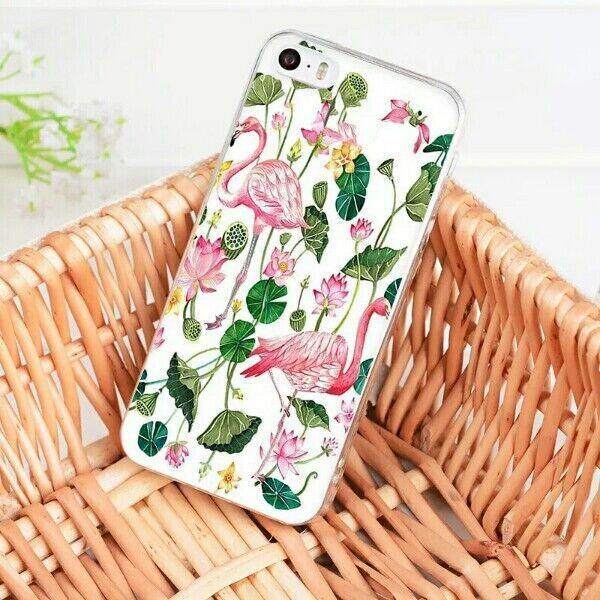 Оригинальный чехол на айфон 7+ Iphone 7+ с фламинго