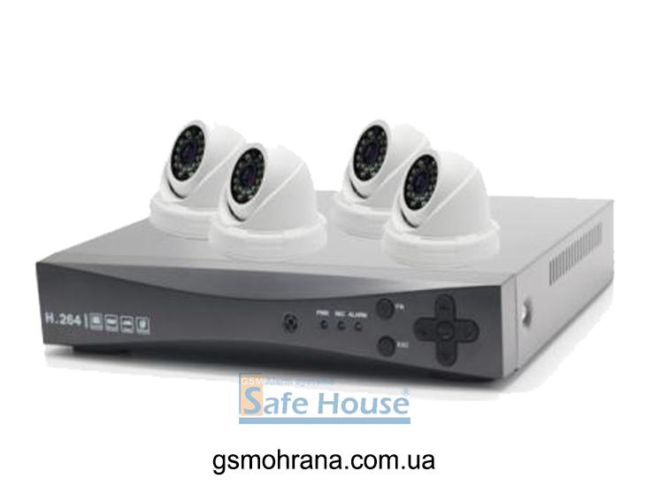 Комплект Ahd-видеонаблюдения Innotronik Ak04b-d040/o100