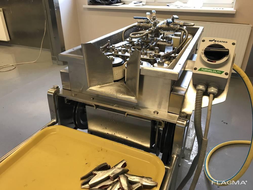 Филетировочная машина для мелкой рыбы