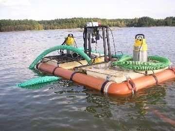 Очистка загрязненных водоемов миниземснарядами