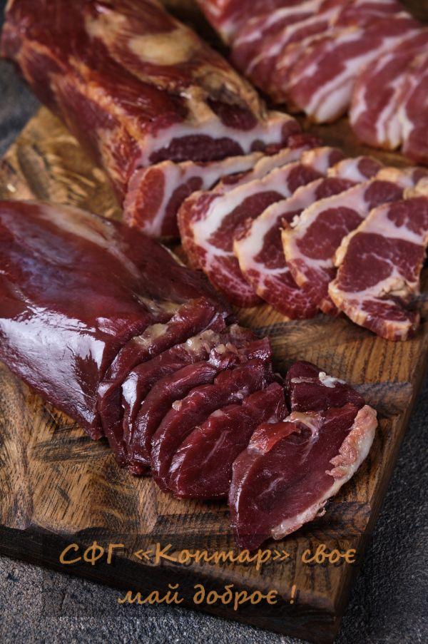 Крафтове сирокопчене м'ясо  Бастурма, Махан, Курхан та багато іншого.2