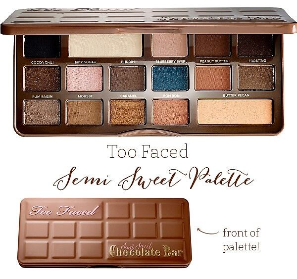 Палетка теней Chocolate Bar Semi-Sweet от Too Faced 16 в 1