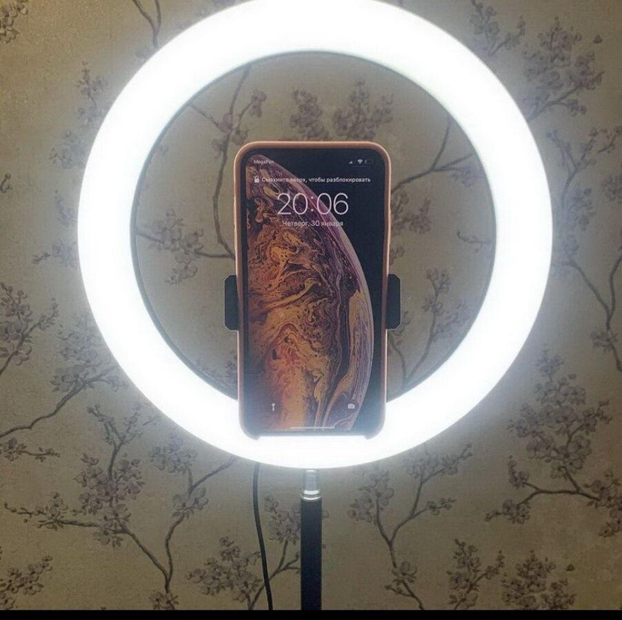 Селфи лампа, селфи свет Лампа 26*см + Крепление для телефона