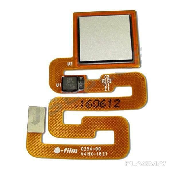 Шлейф Xiaomi Redmi 4X сканера отпечатка пальца серый