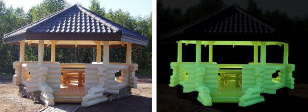 Люминесцентная краска Нокстон для работ по дереву