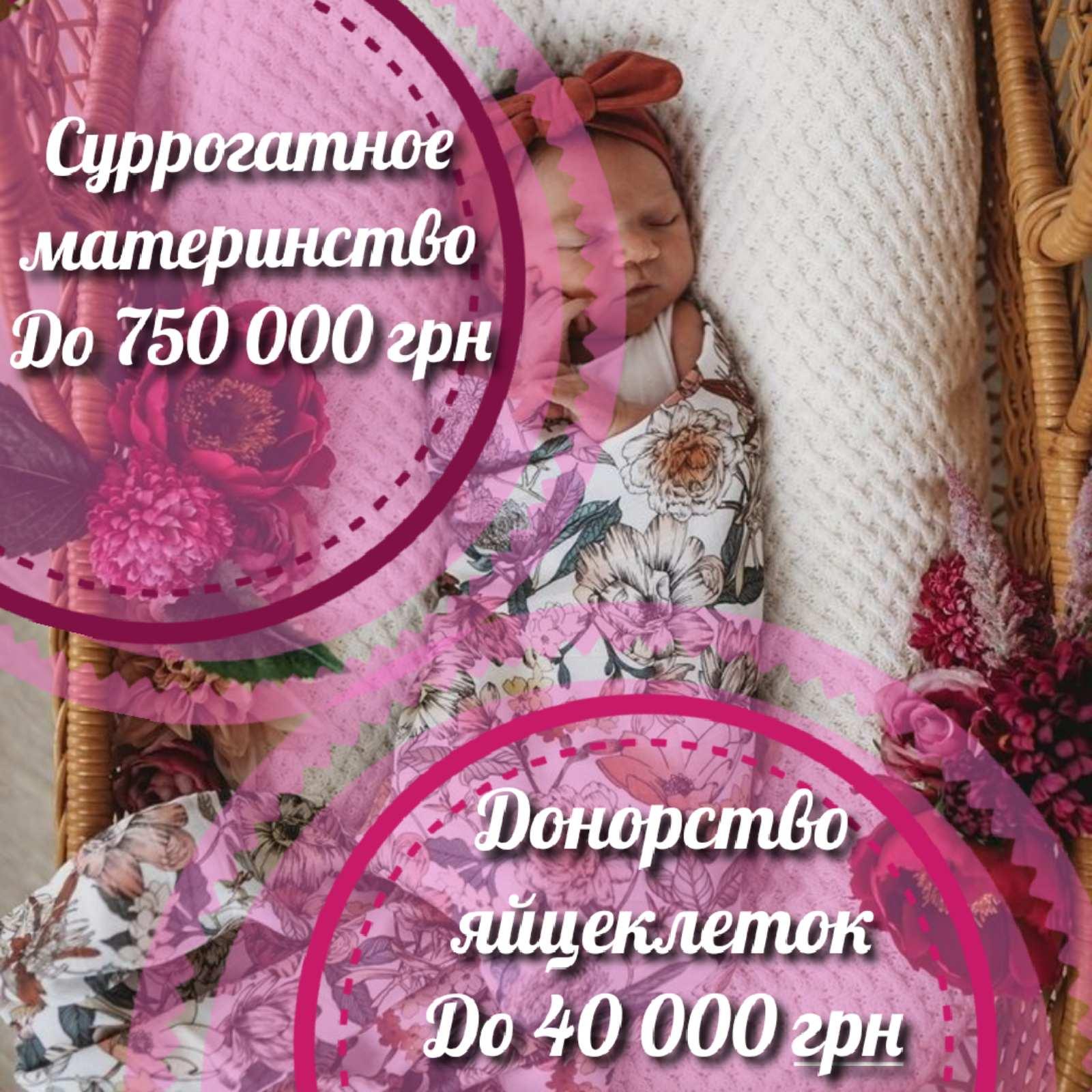 """""""SURmamka"""". Центр репродцукции. Донорство яйцеклеток до 40000 грн."""