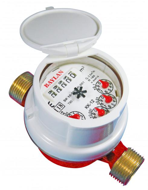 Счетчик для горячей воды Baylan КК-12S (ГВ) Dn15 R100