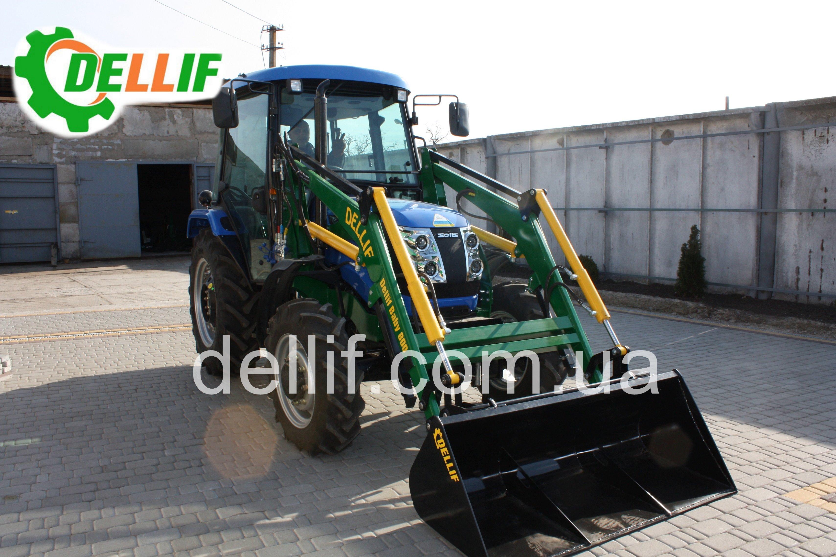 Погрузчик на мини-трактор ДТЗ 5504, Solis 50 - кун Деллиф Бейби 800