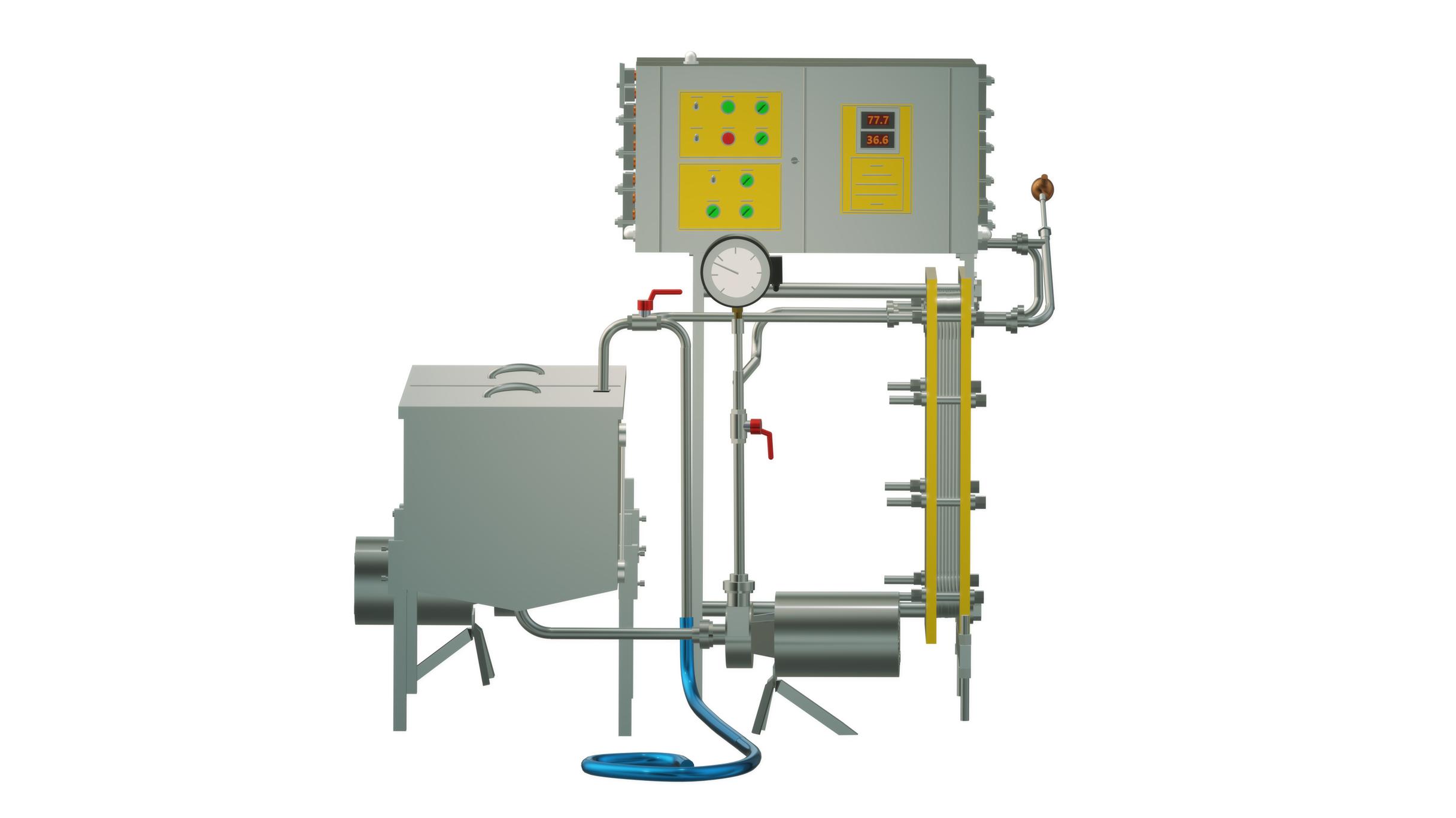 Пастеризатор молока под сыр и сепаратор 1 т/ч УЗМ-1,0П