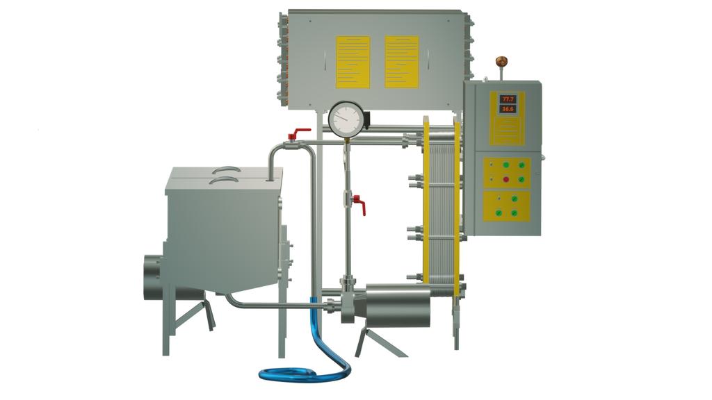 Пастеризатор молока 2 т/ч под сыр и сепаратор УЗМ-2,0П