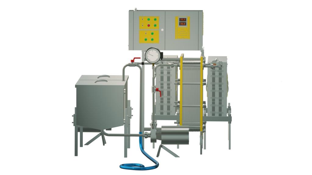 Пастеризатор молока 3 т/ч под сыр и сепаратор УЗМ-3,0П