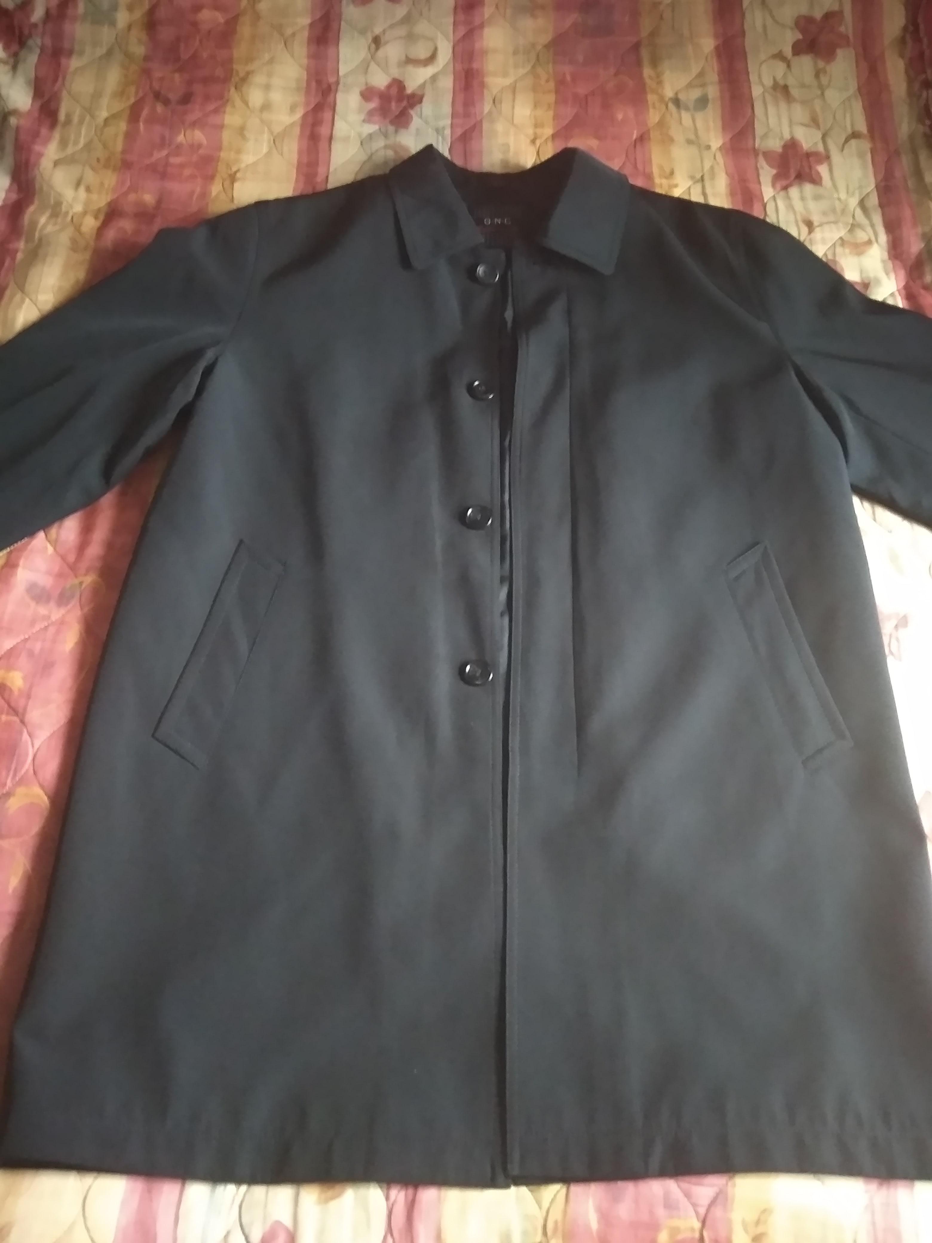 Мужской плащ (тренч) черного цвета4