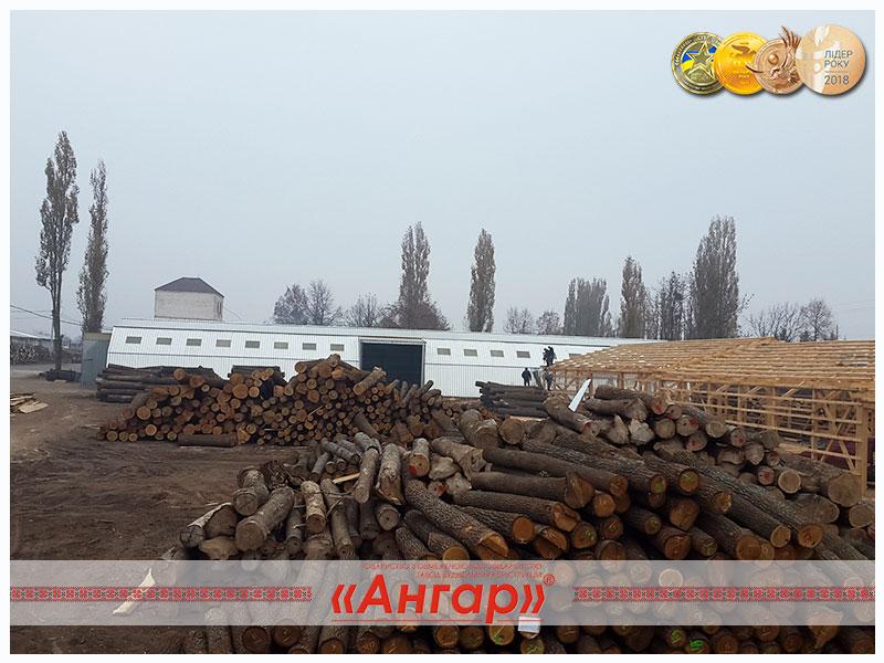 Ангары под деревообработку, склады для хранения древесины, цеха