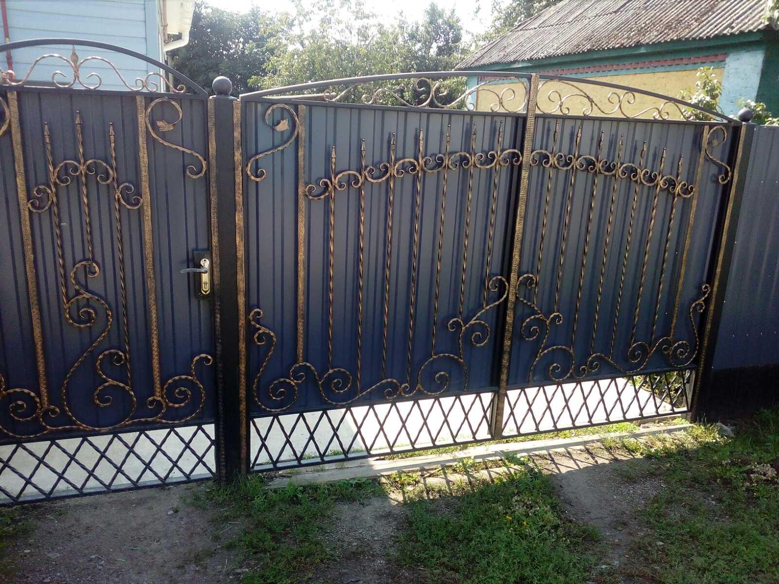 Кованные изделия для ворот и калиток