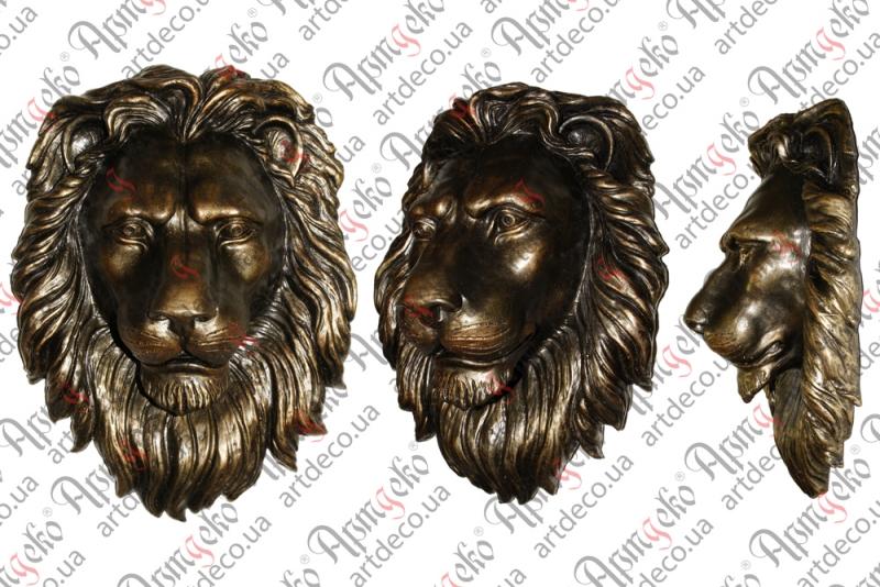 """Литой барельеф """"Лев"""" в ассортименте, морда льва литая"""