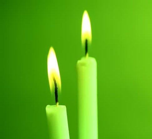 Зелёные свечи для Финансовой Удачи