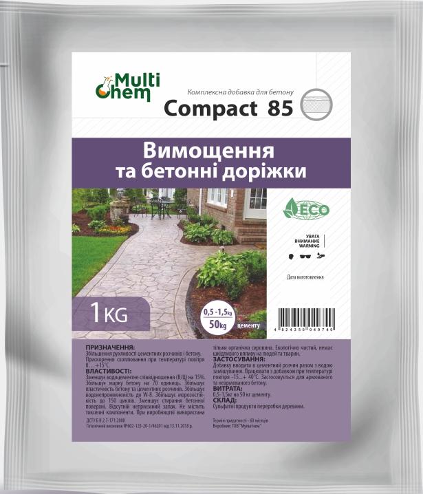 Compact-85 Пластификатор для бетона, тротуарной плитки