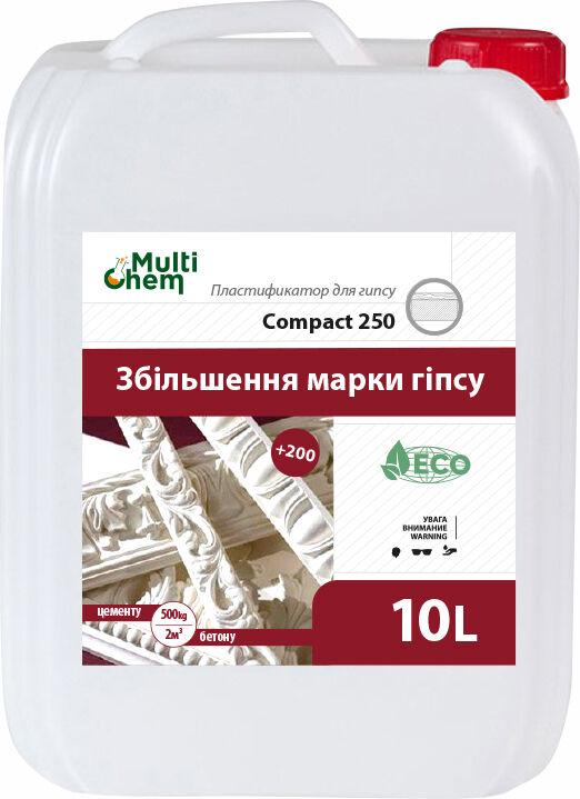 Compact-250 Euro. Пластификатор для увеличения марки гипса