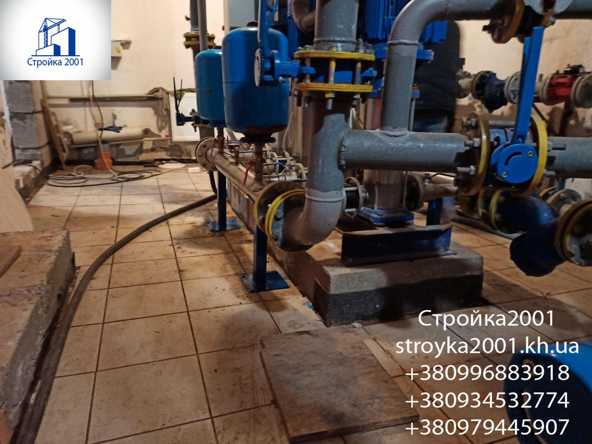 Замена трубопроводов в насосной многоквартирного дома в Харькове
