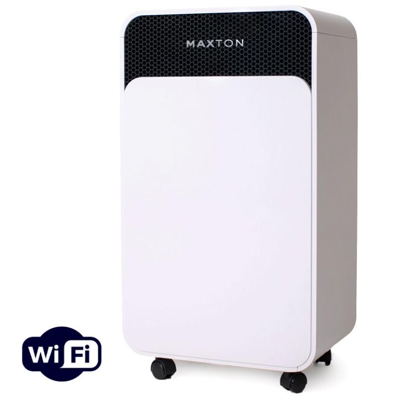 Осушувач повітря Maxton MX-12s WiFi з дистанційним управлінням по Wi-Fi і іонізацією - вологопоглинач для боротьби з пліснявою, грибком, вологою