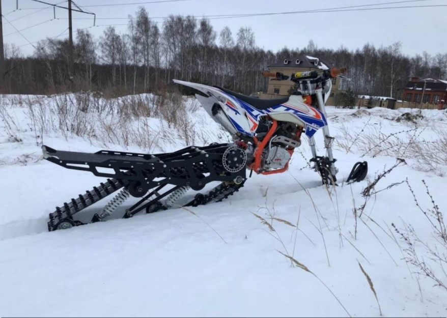 Сноубайк Гусеница на мотоцикл 250 куб.см. Monotrack 22-28