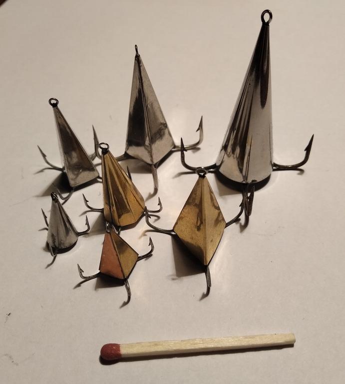 """Блесна """"Конус"""" ручной работы для отвесной ловли хищника - окуня, щуки, судака и т.д."""