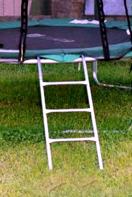 Батут 252 см с защитной сеткой и лестницей4