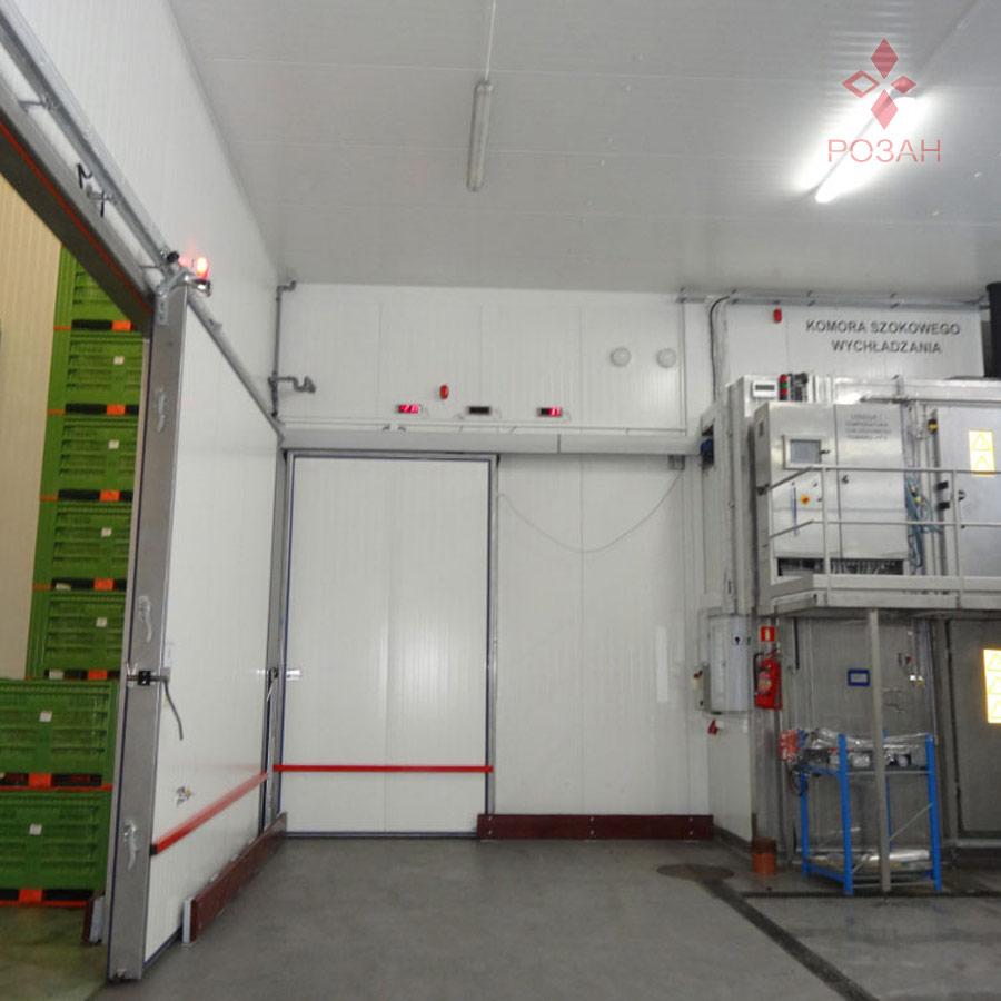 Морозильные двери для цехов охлаждения - Розан1