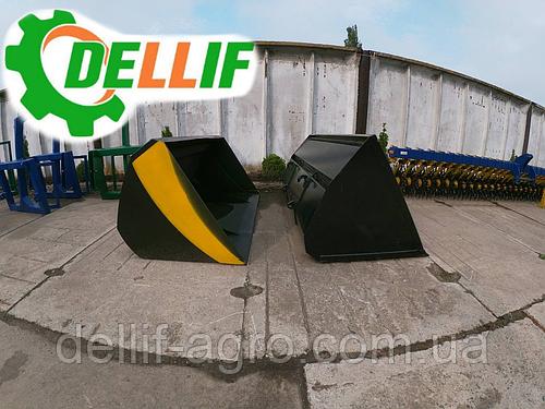 Ковш 1.6 м на погрузчики Dellif для трактора МТЗ,ЮМЗ,Т 40