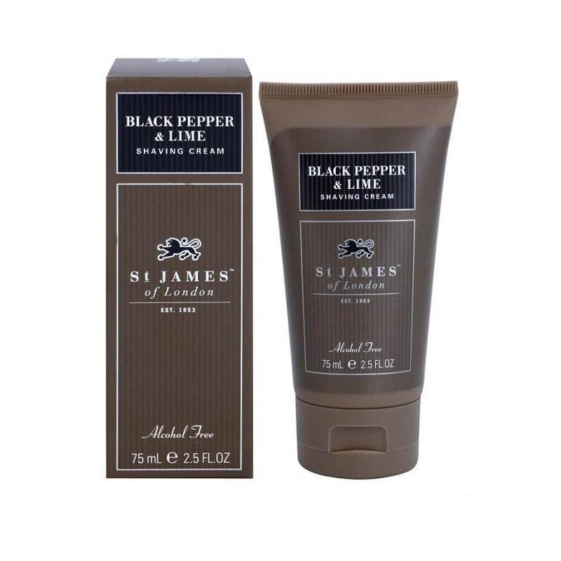 Крем для бритья St. James of London Black Pepper & Lime 75 мл