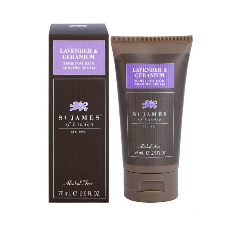 Крем для бритья St. James of London Lavender & Geranium 75 мл