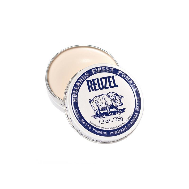 Reuzel Clay Matte Pomade Моделирующая глина мята на краткие волосы сильная фиксация на водной основе 35 г