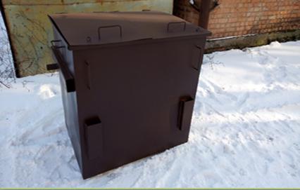 Контейнер для сортування сміття євро / Контейнер для сортировки мусора евро