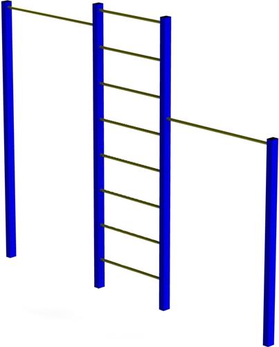 Турнік подвійний з драбиною / Турник двойной с лестницей