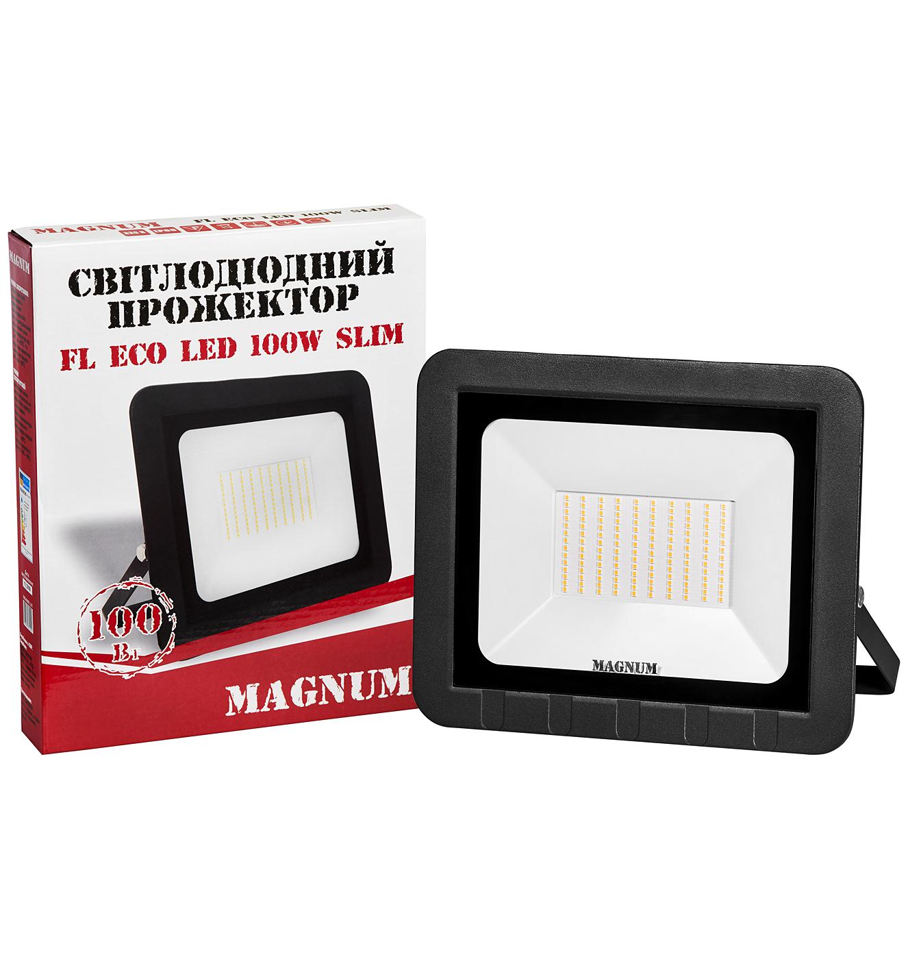 Прожектор світлодіодний MAGNUM FL ECO LED 100Вт slim 6500К IP65