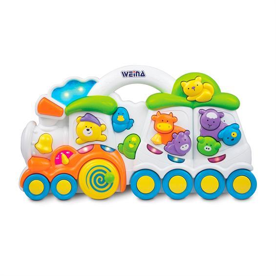 Музыкальная игрушка Weina Паровозик с животными (2106)