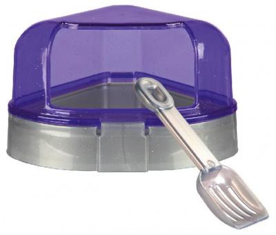 Туалет угловой с лопаткой для грызунов Trixie (цвета в ассортименте)