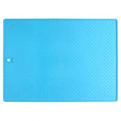 Большой антискользящий коврик под миски Dexas Голубой